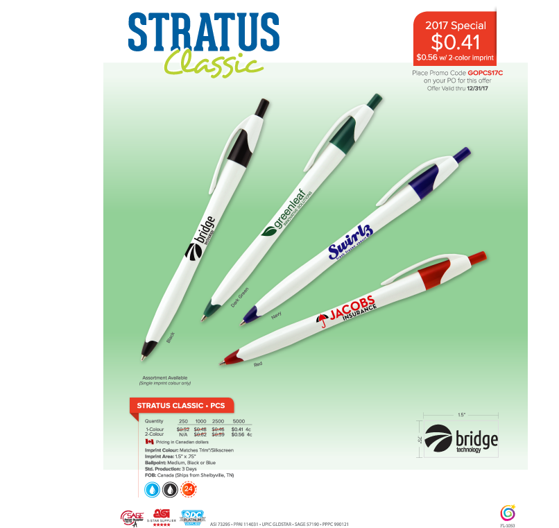 Only $102.50 for 250 pens